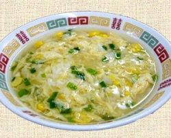 Photo1: コーンとたまごの中華スープ、Corn & Veg. Soup
